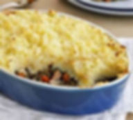 individual cottage pie made with slow cooked beef