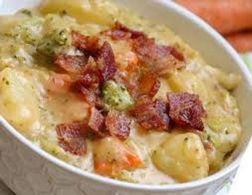 Real potato and bacon soup.