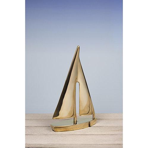 Yacht Sculpture Brass 23cm 7287