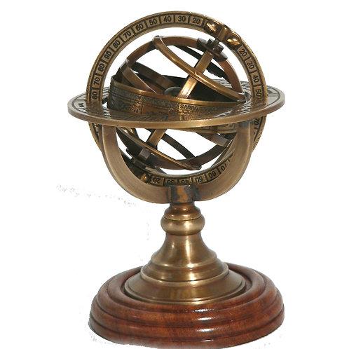 Armillary Sphere on Hardwood stand 4298