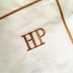Bed linen for private Mallorca residence