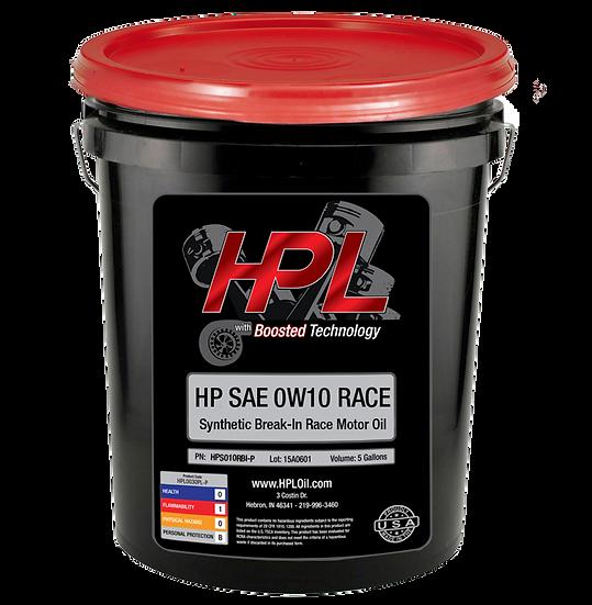 0W10 Synthetic Break-In Race Oil Pail (5 Gallons)