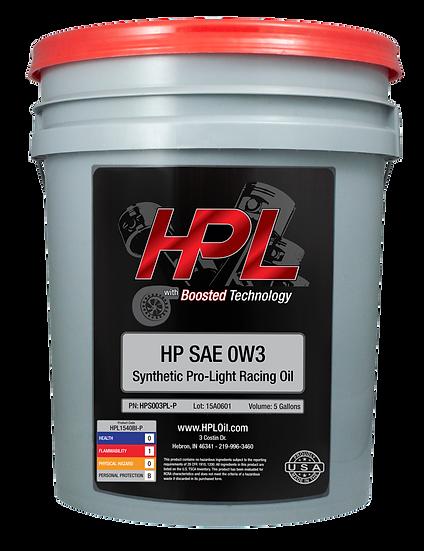 0W3 Pro-Light Racing Motor Oil Pail (5 Gallons)