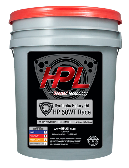 50WT Synthetic Rotary Race Motor Oil Pail (5 Gallons)