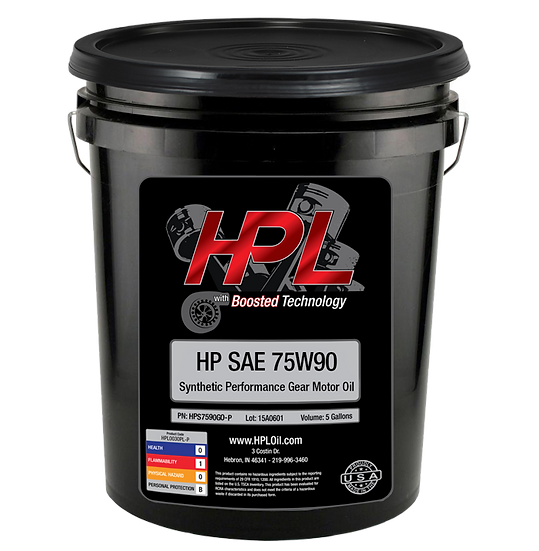 75W90 Synthetic Gear Oil Pail (5 Gallons)