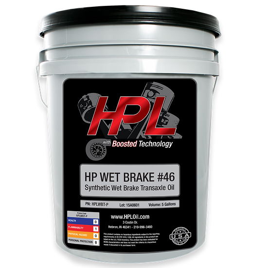 #46 Synthetic Wet Brake Transaxel Oil Pail (5 Gallons)