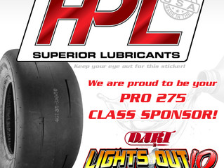 We are your Pro 275 Class Sponsor at Lights Out 10!