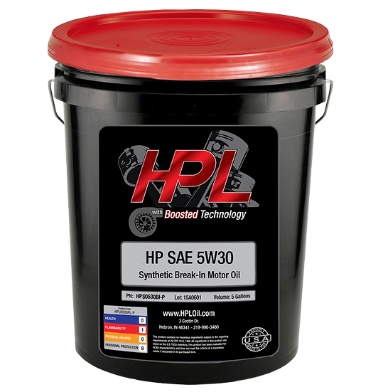 5W30 Synthetic Break-In Oil Pail (5 Gallons)