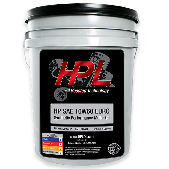 10W60 Synthetic Euro Motor Oil Pail (5 Gallons)