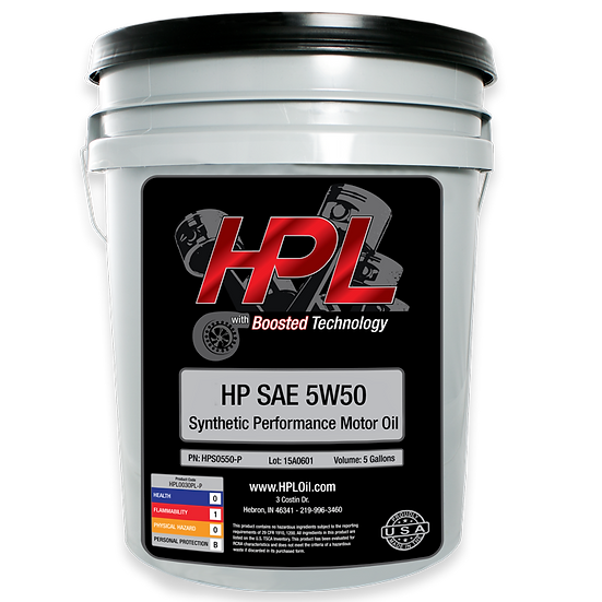 5W50 Synthetic Motor Oil Pail (5 Gallons)