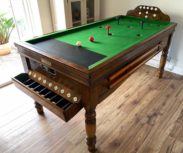 Bar Billiard Table Circa 1930's Made By