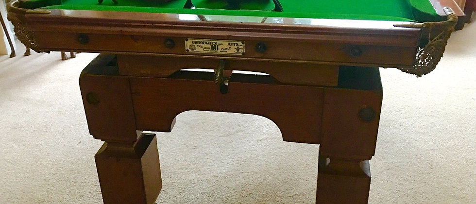 6ft Burroughes & Watts M1 Snooker, Pool Dining Table Circa 1890s