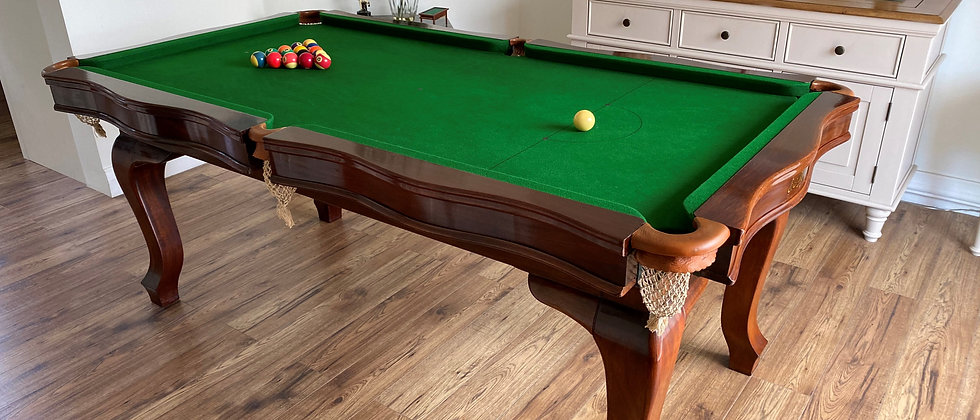 E J Riley Serpentine 6ft convertible Snooker   Pool Dining Table (SOLD)