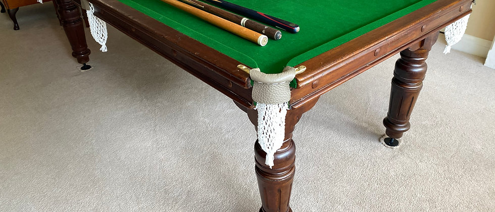 7x4 Antique E J Riley Snooker | Pool Table - c1930s
