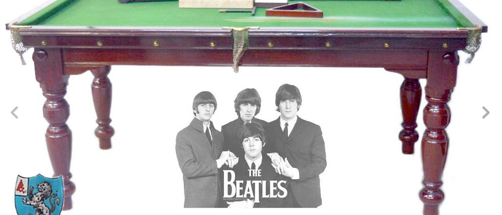 Antique Snooker Table E J Riley of Accrington with Beatles history (SOLD)