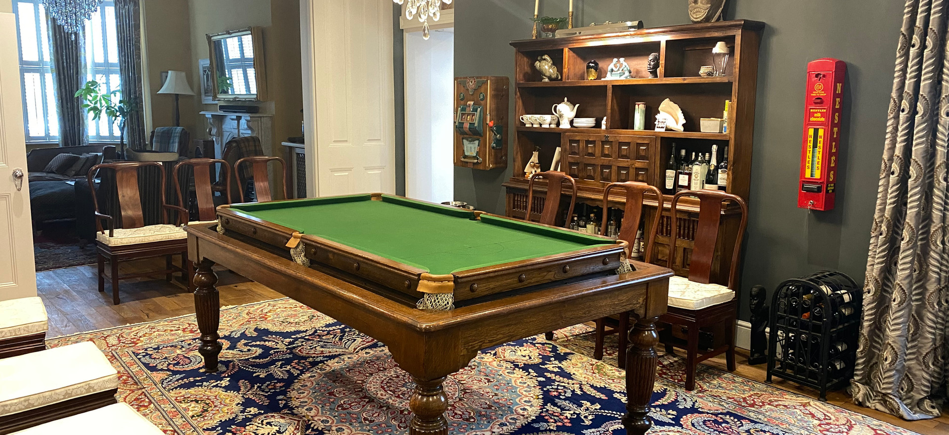 Snooker | Billiard | Pool Table | Rollover Convertible Dining Table