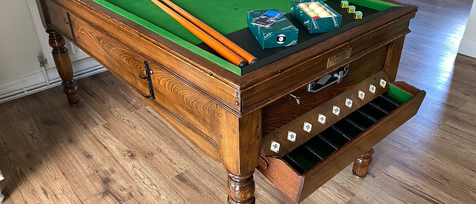 Bar Billiard Table  Circa 1930's  Made By Jelks and Sons (SOLD)