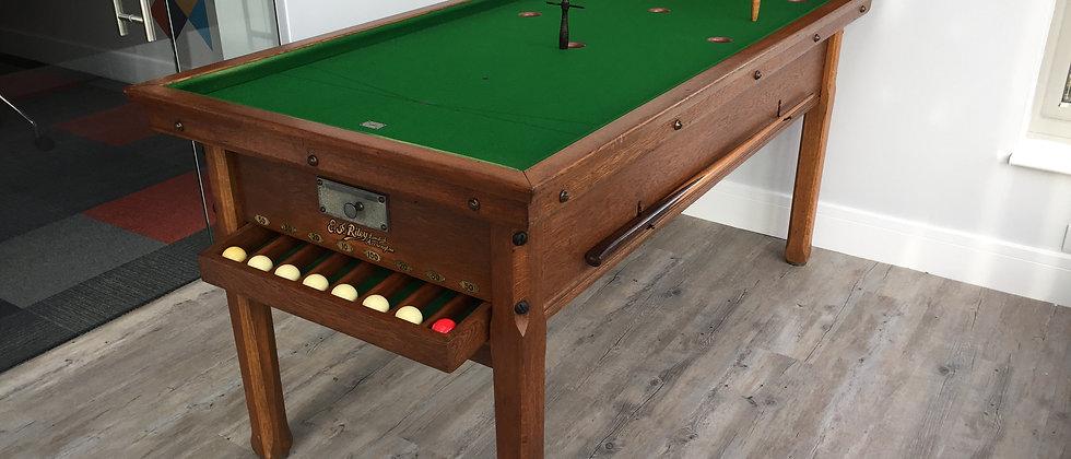 Antique E J Riley Oak Bar Billiards Tables - 1910 (SOLD)