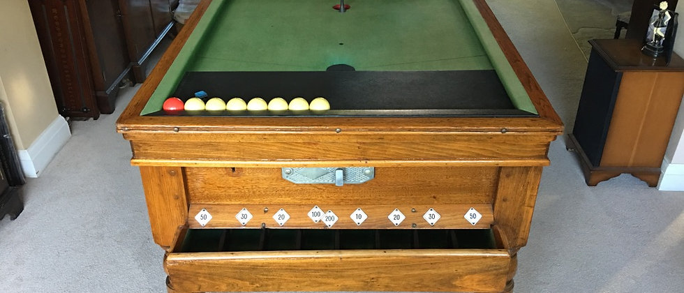 Oak Antique Jelks Bar Billiards Tables - C.1920