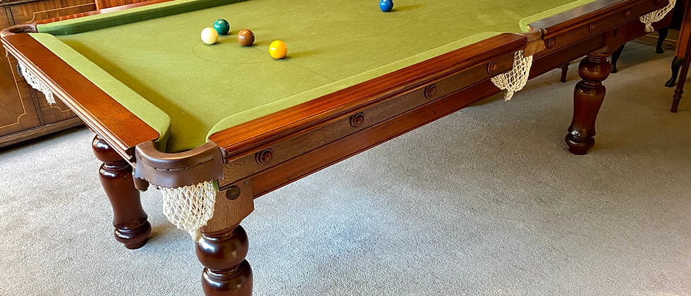 Sir William Bentley 7x4 Snooker Pool Dining Table Solid Mahogany Slate Bed