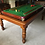 Thumbnail: Antique 7X4 Roll Over Snooker Pool Billiard Dining Table & Six Chairs 1920's