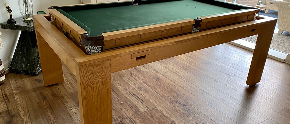 7X4 Rollover Snooker   Pool   Dining Table Solid Oak Convertible (SOLD)