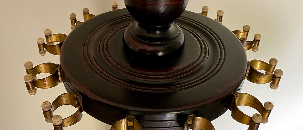 Antique Mahogany Revolving Cue Rack Circa 1880
