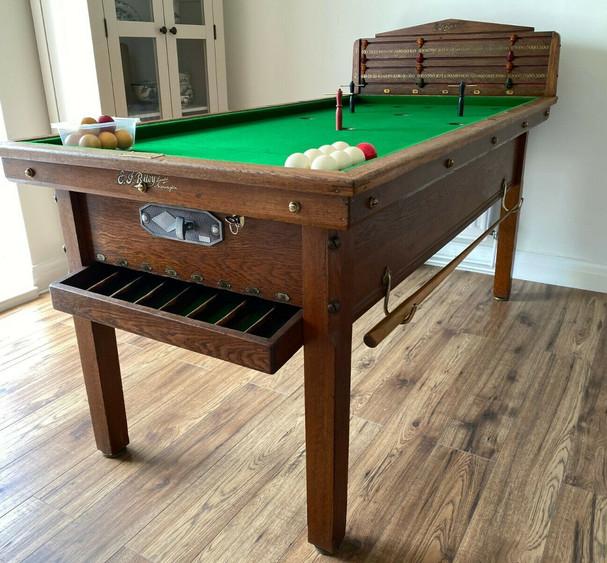 E J Riley Bar Billiard Table NUMBER 16