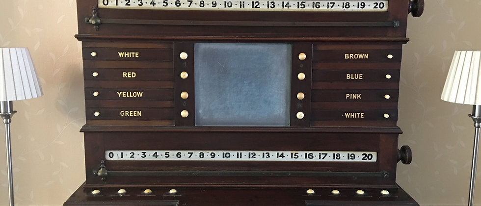 Mahogany Stevens & Sons London Snooker Scoreboard 1880 Life Pool