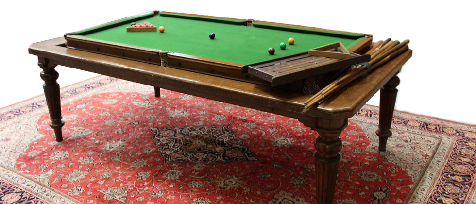 8ft Antique Rollover Billiard / Snooker Dining Table Early 1800's (SOLD)
