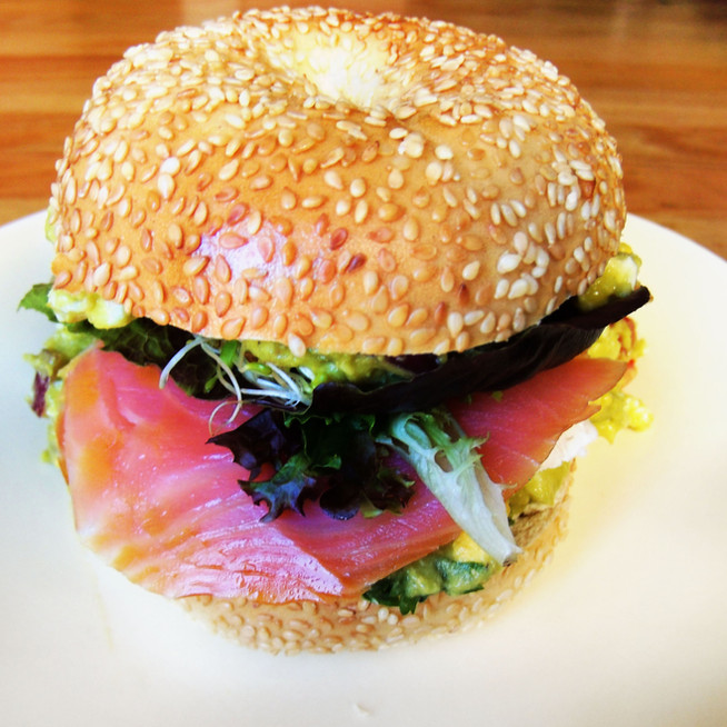 Lox Avocado Bagel