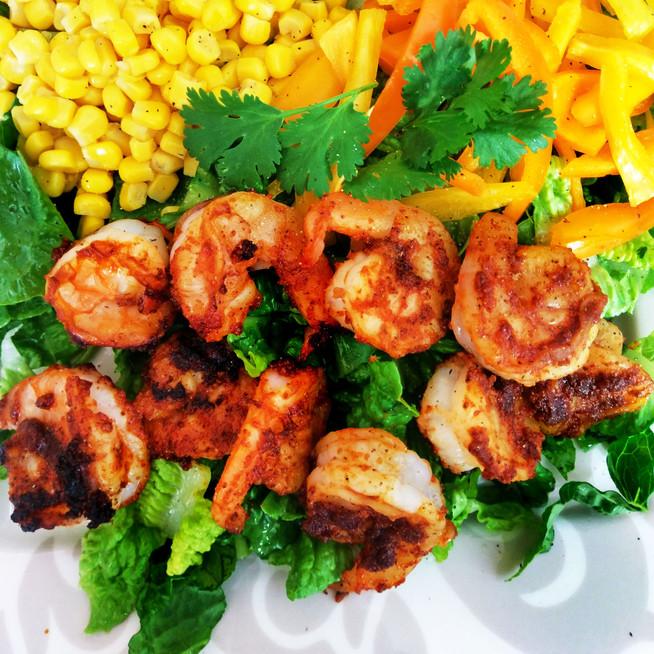 Grilled Fajita Shrimp Salad