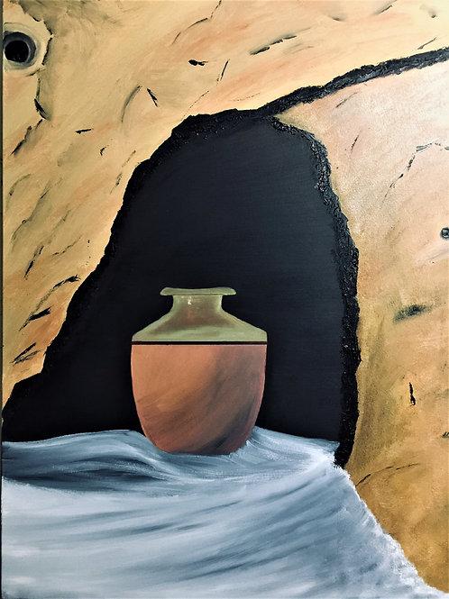 Pot dans une cave