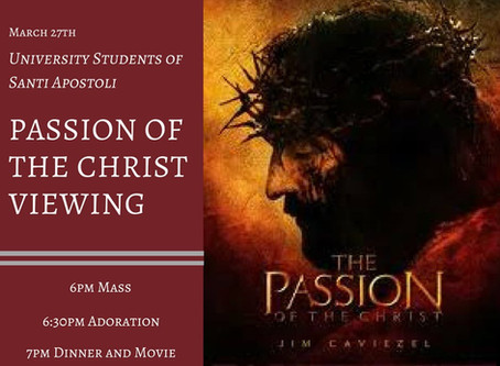 University Students: Passion of Christ viewing