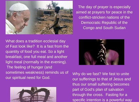 Pope Francis asks us to help...