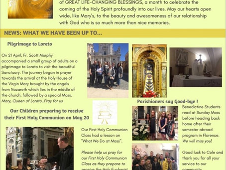 Santi Apostoli May Newsletter