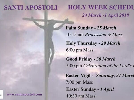 Holy Week Liturgical Schedule