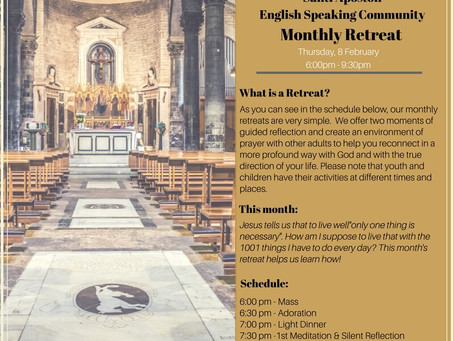 Retreat for adults this Thursday