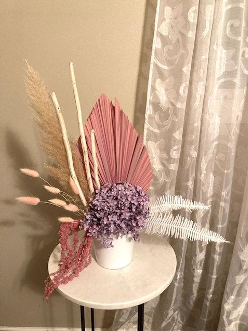 Lavender, Pink, white - Dried Floral Arrangement