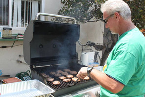 Andy handling the bbq