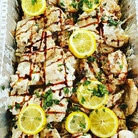 Herb Rubbed Chicken with Lemon Basil Cre
