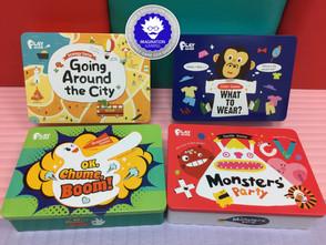【桌遊類】玩到停不下來,榮獲英國2019想像力遊戲獎提名的小康軒Playagain系列桌遊之二:OK,啾咪,砰!、城市小旅行