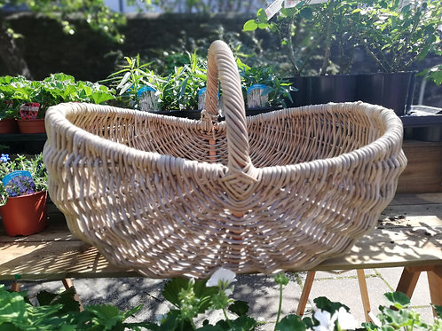 KIDNEY POTATO BASKET WITH HOOP HANDLE