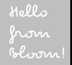 Bloom Blogs!