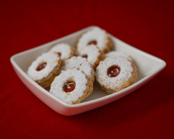 Spitzbuben Cookies (Hazelnut with Jam Centre)
