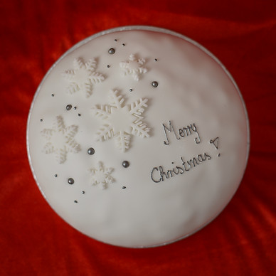 Brandy-soaked Christmas Cake with Personalised Message