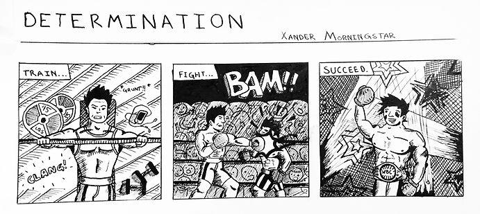 Determination Xander Morningstar comic book