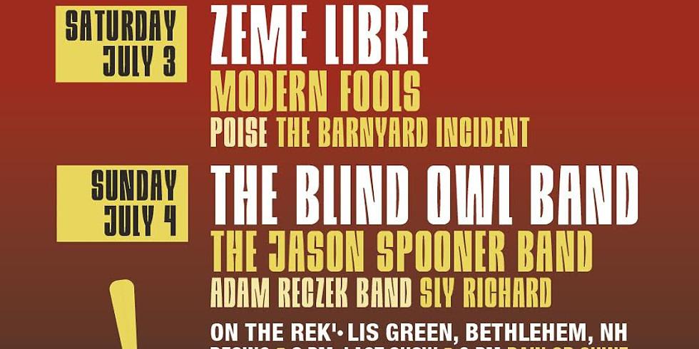 The Blind Owl Band at Bandemic, Beer & Music Festival, Rek'-Lis Green,  Bethlehem, NH