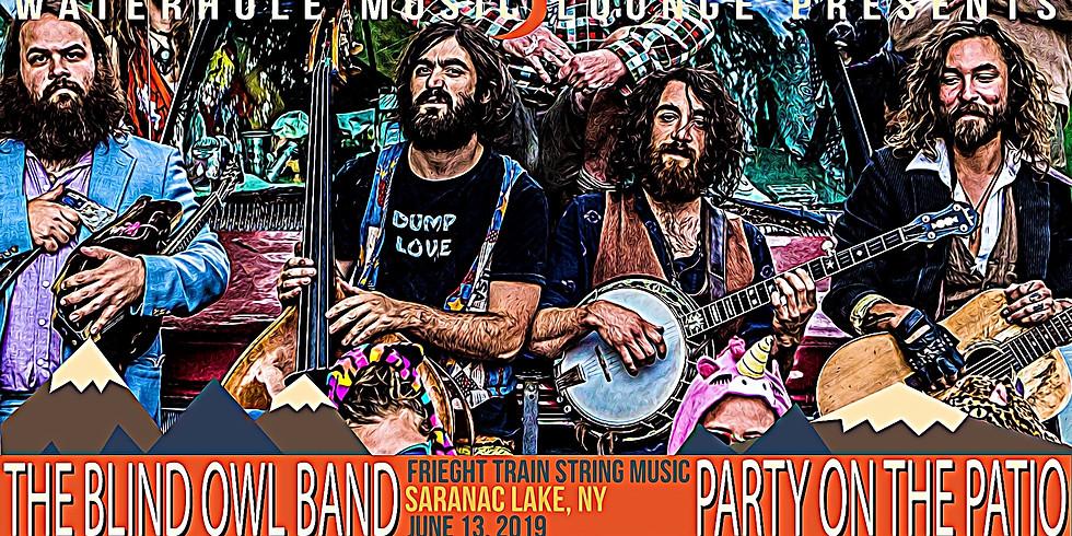 The Blind Owl Band at Party on the Patio at Waterhole, Saranac Lake, NY