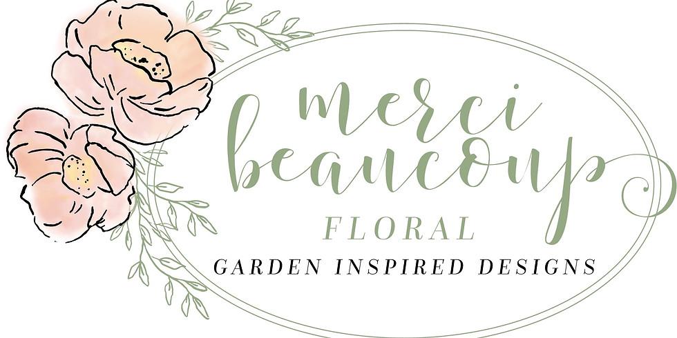 Seasonal Floral Arrangement Workshop $55